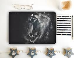 Lion Laptop Decal Skins Notebook Vinyl Decal Dell Inspiron Hp Etsy