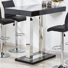 ca glass bar table in black and