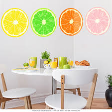 Fruit Slices Set Of 4 Kitchen Wall Decals At Retro Planet