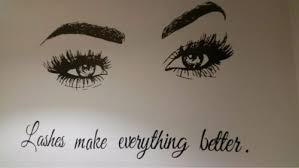 Home Furniture Diy Wall Decals Stickers Vinyl Sticker Eyelashes Lashes Extensions Beauty Salon Wall Decal Eyebrows Make Mtmstudioclub Com