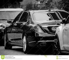 Paris Street View With Rear View Of New Maybach Mercedes Black A Editorial  Stock Image - Image of business, expensive: 118452574