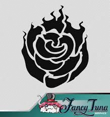 Vinyl Decal Rwby Ruby Rose Logo Etsy