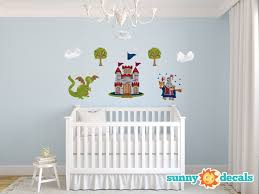 Sunny Decals Knight And Dragon Fabric Wall Decal Wayfair
