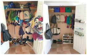 how to organize your mudroom on a