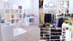beauty office closet room tour