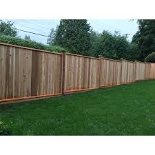 Unbranded 6 Ft X 8 Ft Premium Western Red Cedar Heavy Duty Solid Fence Panel W Stained Spf Frame Size 67 1 2 In H X 96 In W New6x8stp The Home Depot