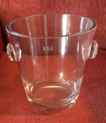 lsa madrid clear ice bucket 18cm for