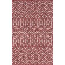 rust red gray tribal trellis outdoor