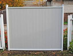 Pvc Plastic Fence Panels With Posts Reinforced With Metal Profile Garden Fencing Ebay