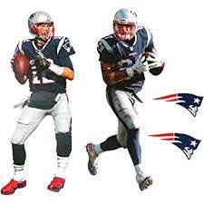 Amazon Com Tom Brady And Rob Gronkowski Mini Fathead Graphic Patriots Logo Official Nfl Vinyl Wall Graphics Each Player 7 Inches Tall Home Improvement