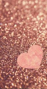 rose gold heart wallpaper shared by