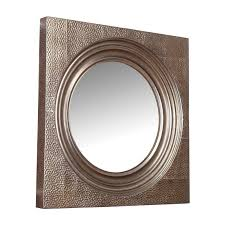 syeda hammered metal framed square wall