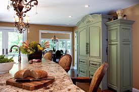 sage green kitchen and granite