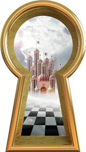 3d Keyhole Wall Decal Queen Of Hearts Castle Alice In Wonderland Portal Hole