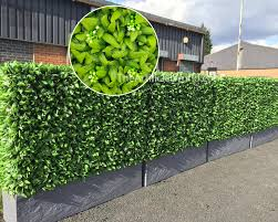 Uland Strong 4pcs Strong Of Artificial Floral Hedge Panel Faux Privacy Fence Screen 20 X20 Agw 43 Artigwall