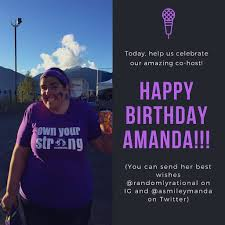 Tiny Fences On Twitter Today We Re Celebrating The Most Amazing Talented And Just Downright Delightful Co Host A Podcast Can Have Amand Https T Co Stvebjfux7 Https T Co Avlt7vanbk