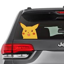 Surprised Pikachu Car Decal Car Window Decal Pokemon Etsy