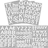 Amazon Com Duro Decal Permanent Adhesive Vinyl Letters Numbers 2 Gothic White Home Kitchen