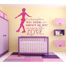Do It Yourself Wall Decal Sticker It S Amazing How A Thin Blade And A Sheet Of Ice Can Make Me Fall In Love Skating Quote Girl Bedroom Teen 16x24 Walmart Com