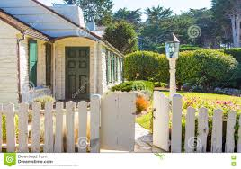 Small House With A Small Wooden Fence Stock Image Image Of Lawn Quaint 72919885