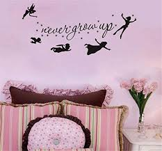 Decorate Life Fairy Never Grow Up Wall Sticker Decal Quote Art Vinyl Decor Removable Pvc Decoration For Kids Children Bedroom Educational Toys Planet