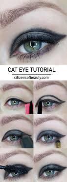 black and grey cat eye tutorial