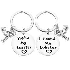 Couple Gift Keychain I Found My Lobster ...