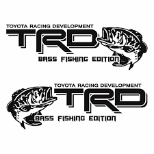 Product Toyota Trd Bass Fishing Edition Fish Decal Sticker Vinyl Truck Tacoma Tundra Qk