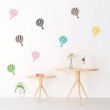 Hot Air Balloon Cloud Wall Stickers For Kids Room Bedroom Accessories Home Decor Living Room Wall Decals Mural Va726an 20 30cm Wall Stickers Aliexpress