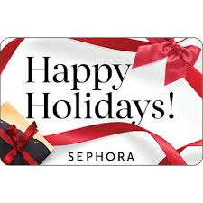sephora gift card happy holidays