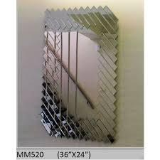 glass side cut rectangular mirror