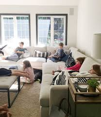 Living With Kids And A Light Couch Https Jonesdesigncompany Com Our House Living Kids Light Couch Sectional Sofa Comfy Cool Couches Couches Living Room