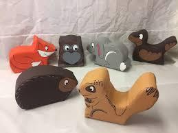 6x woodland animal soft play set