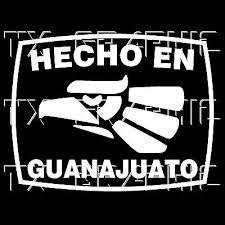 Hecho En Guanajuato Gto Estado De Mexico State Aztec Aguila Decal Sticker Ebay