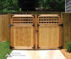 Pictures Of Custom Double Gate From Atlanta Decking And Fence Company Wood Gate Wooden Gates Driveway Wooden Gate Designs