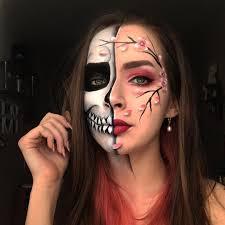 sugar skull makeup half face saubhaya