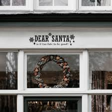 Vinyl Wall Art Decal Dear Santa 6 X 22 5 Snowflakes Christmas Imprinted Designs