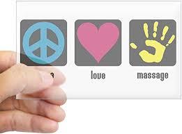 Amazon Com Cafepress Peace Love Massage Rectangle Sticker Rectangle Bumper Sticker Car Decal Home Kitchen