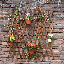Expanding Wood Garden Wall Fence Panel Plant Climb Trellis Decorative Shopee Philippines