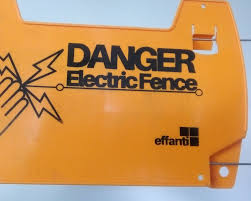 Electric Fence Yellow Warning Sign Buy In Lagos