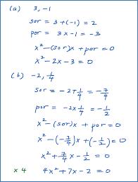 quadratic equation if two roots