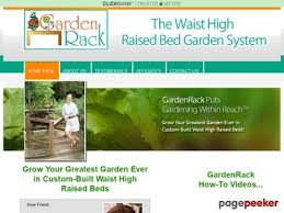 waist high raised bed garden system