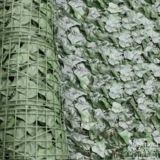 Artificial Ivy Leaf Hedge Screen 3m X 1m Roll Outdoor Uv Stabilised Vertical Gardens Direct
