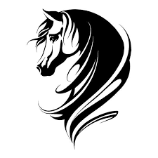 Horse Vinyl Decal Sticker For Car Truck Window Computer Stallion Tribal Decor Horse Silhouette Horse Tattoo Design Horse Stencil