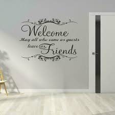 Welcome Guests Wall Art Sticker Hallway Living Room Quote Vinyl Decal Home Decor Ebay