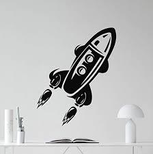 Amazon Com Spaceship Wall Decal Space Rocket Vinyl Sticker Spacecraft Ship Wall Art Design Nursery Decor Teen Kids Room Housewares Bedroom Decor Removable Wall Mural 87rt Home Kitchen