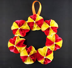 wall hanging paper flower craft home
