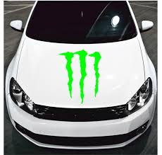 Monster Energy Hood Decal Monster Energy Car Decal Monster Energy Hood Sticker Monster Energy Decals Monster Energy Stickers Monster Decals Monster Stickers Laptop Decals