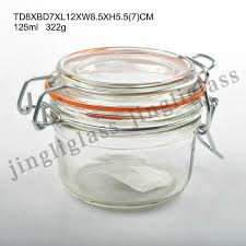 125ml wide mouth clip cap glass jar