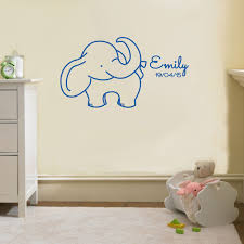 Name Birth Date Elephant Personalized Wall Sticker Decal Stencil Sil Decalz Co
